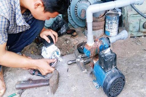 máy bơm không lên nước do hỏng bơm